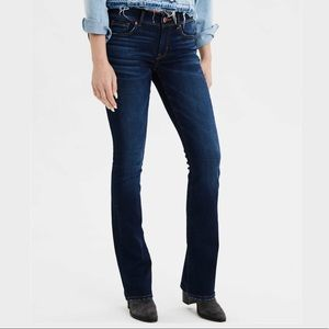 AEO x4 kick boot size 4 360 super stretch jeans